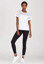 c(inch) - Mesh Inset T-shirt White