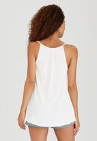 Roxy - California Calling Embroidered Vest Cream