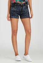 Rip Curl - Daisy High Waisted Denim Shorts Black