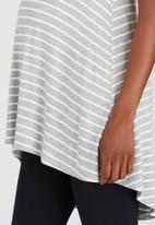 edit Maternity - Longer Length T Grey Melange