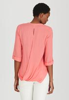 edit - Utility Top with Cross-over Back Coral