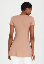 edit - Cross Over Front Tunic Stone