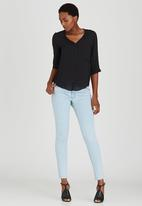 edit - Utility Top with Cross-over Back Black