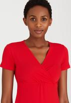 edit - Cross Over Front Tunic Dark Red