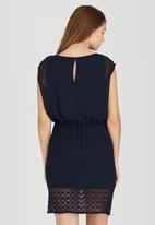 ONLY - Short Sleeve Blouson Dress Navy