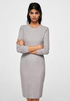 MANGO - Fitted Dress Grey