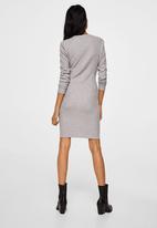 MANGO - Fitted Dress Grey