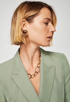 MANGO - Modal-blend Suit Blazer Khaki Green