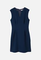 MANGO - Ani v-neckline dress - navy