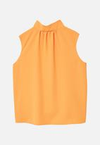 MANGO - Tie-neck Blouse Orange
