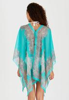 Joy Collectables - Kaftan with Button Detail Turquoise
