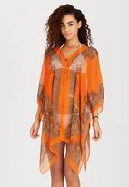 Joy Collectables - Kaftan with Button Detail Orange