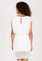ONLY - Short Sleeve Blouson Dress White