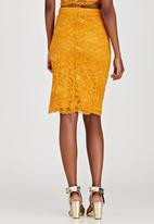 Fashion Union - Ramsey Lace Pencil Skirt Gold