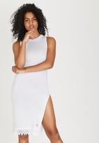 Rip Curl - Edgy Beach Babe Dress White