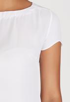 Sensation - Cap Sleeve Blouse Milk