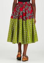 Loin Cloth & Ashes - Toba Full Circle Skirt Red