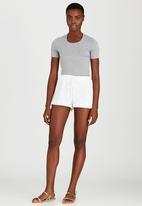 c(inch) - Lace Shorts White