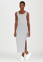 STYLE REPUBLIC - Ribbed Maxi Dress Grey Melange