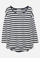 MANGO - Long Sleeve T-shirt Navy