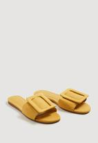 MANGO - Buckle Flat Sandals Yellow