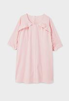 MANGO - Frill detail dress - pink