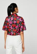 MANGO - Floral Print Blouse Floral