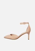 MANGO - Ankle-cuff Heels Pale Pink