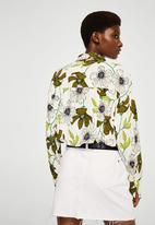 MANGO - Floral Print Blouse White