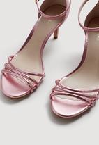 MANGO - Metallic Heels Mid Pink