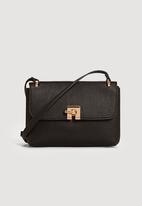 MANGO - Pebbled Cross-body Bag Black
