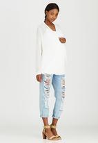 Cherry Melon - Wrap Shirt White