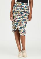KISUA - Freetown Asymmetric Skirt Multi-colour