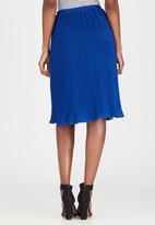 edit - Pleated Chiffon Skirt Cobalt