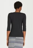 edit - Pleated Front Top Black