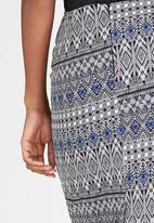 edit - Woven Pencil Skirt Multi-colour