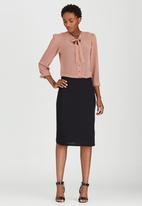 edit - Woven Pencil Skirt Black