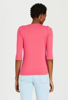 edit - Pleated Front Top Coral