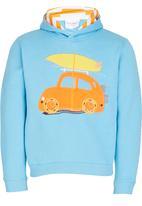 POP CANDY - Boys Car Hoody Pale Blue