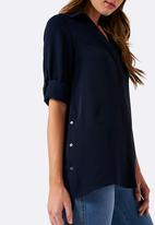 Forever New - Becky Button Tunic Shirt Navy