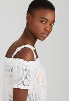 SISSY BOY - Steamy Lace Blouse White