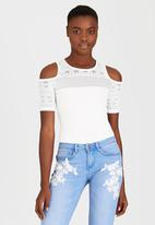SISSY BOY - Katreena Cold Shoulder Bodysuit Milk