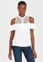 SISSY BOY - Mersini Shirt with Ruffles Milk