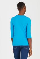 edit - Pleated Front Top Turquoise