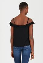 SISSY BOY - Call It A Day Floaty Cheesecloth Cami Black
