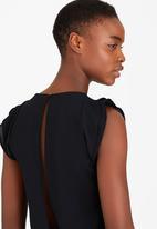 SISSY BOY - Kardash Ladderlace Inset Tee Black