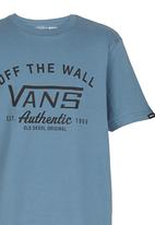 Vans - T-shirt with Print Mid Blue