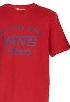 Vans - T-shirt with Print Dark Red