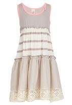 Eco Punk - Stripe Dress Stone