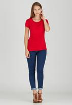 edit - Front Drape Top Red